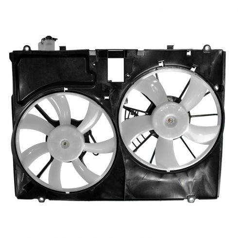 07-10 Toyota Sienna Radiator Cooling Dual Fan Assy w/o Controller