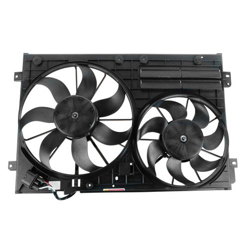 06-13 Audi A3; 08-13 TT; 12-13 Beetle; 09-13 CC, EOS; 08-13 Passat; 10-13 Golf Rad Dual Cool Fan Asy