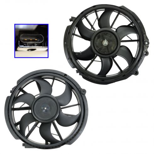 96-07 Taurus; 96-05 Sable Radiator & AC Cooling Fan Assembly PAIR