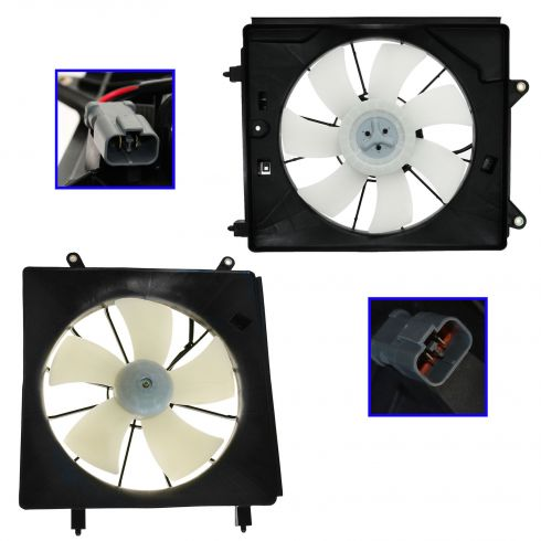 2007-08 Honda Element Radiator & AC Condenser Fan PAIR