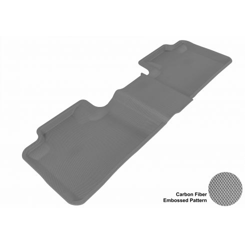11-13 Jeep Grand Cherokee, Dodge Durango Gray Rear Floor Liner