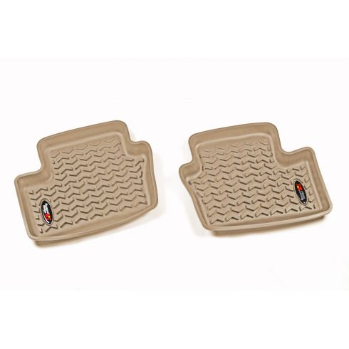 07-12 Dodge Caliber; 07-14 Jeep Compass,Patriot Tan Rear Floor Liner SET (Rugged Ridge)