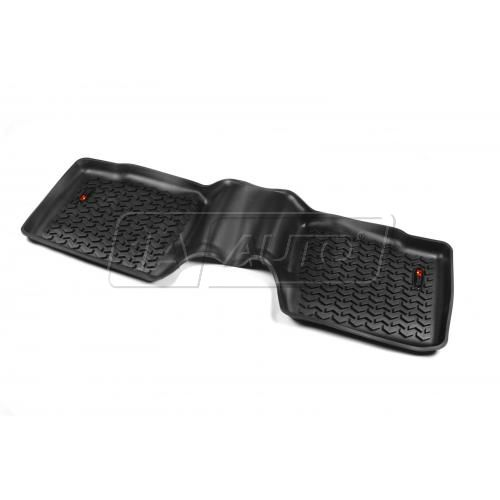 11-14 Ford Explorer Black Rear Floor Liner SET (Rugged Ridge)
