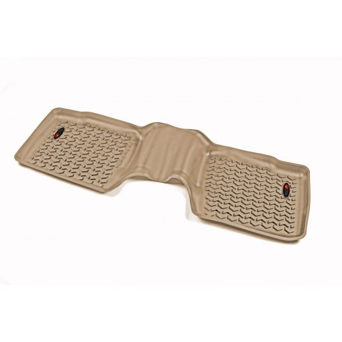 11-14 Ford Explorer Tan Rear Floor LinerSET (Rugged Ridge)