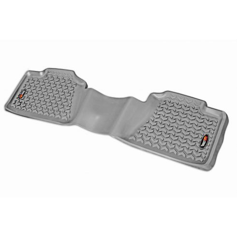 99-14 GM Fullsize PU Crew, Ext Cab & SUV(1 Piece)  Gray Rear Floor Liner (RuggedRidge)