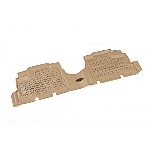 07-14 Jeep Wrangler (4DR) Tan Rear FloorLiner SET (Rugged Ridge)