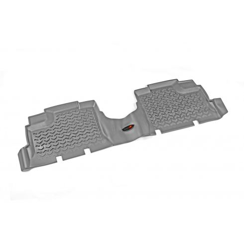 07-14 Jeep Wrangler (4DR) Gray Rear Floor Liner SET (Rugged Ridge)