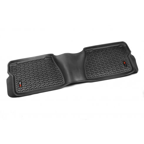 07-14 Toyota Tundra Crewmax & Double Cab(1 Piece)  Black Rear Floor Liner (Rugged Ridge)