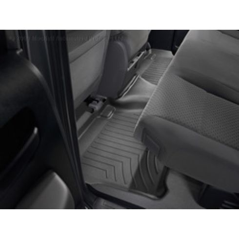 Black Toyota Tundra Double Cab 07+ Rear Floor Liner