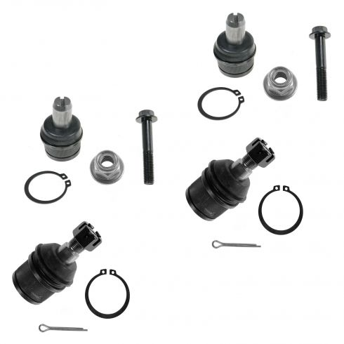 87-97 Ford F250; F350 2WD Front Upper & Lower Ball Joint Set of 4