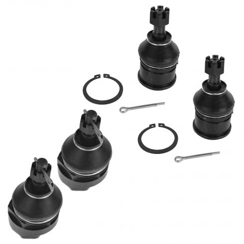 92-00 Civic; 93-97 Del Sol; 94-01 Integra; 97-01 CRV Upper & Lower Ball Joint SET of 4