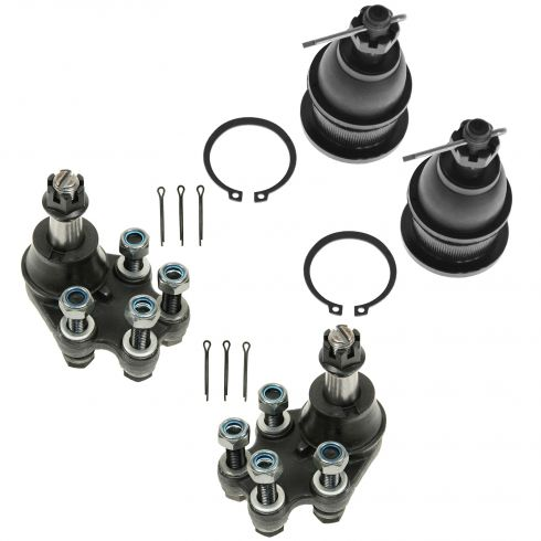 99-07 Chevy Silverado; GMC Sierra 1500 2WD Front Upper & Lower Ball Joint Kit (Set of 4)