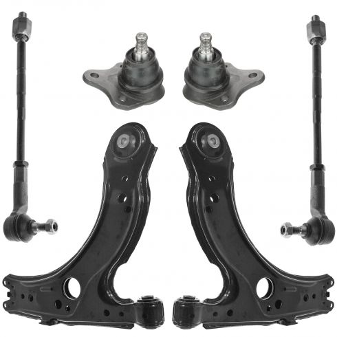 98-10 VW Beetle; 99-06 Golf; 99-05 Jetta Front Control Arm, Ball Joint & Tie Rod Kit