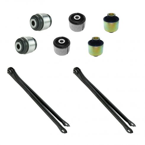 01-05 BMW 325CI, 325XI, 330CI, 330XI, 8 Piece Rear Lower Lateral Locating Arm & Bushing Kit
