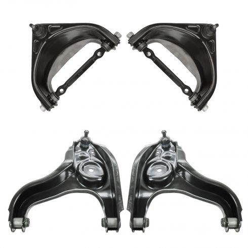 94-99 Dodge Ram 1500 w/ 2WD Front Upper & Lower Control Arm w/ BJ Set of 4