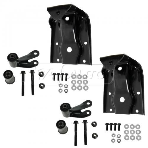 99-13 Silverado, Sierra 1500; 04-13 Hybrid Rear Leaf Spring Rear Shackle & Bracket Kit PAIR