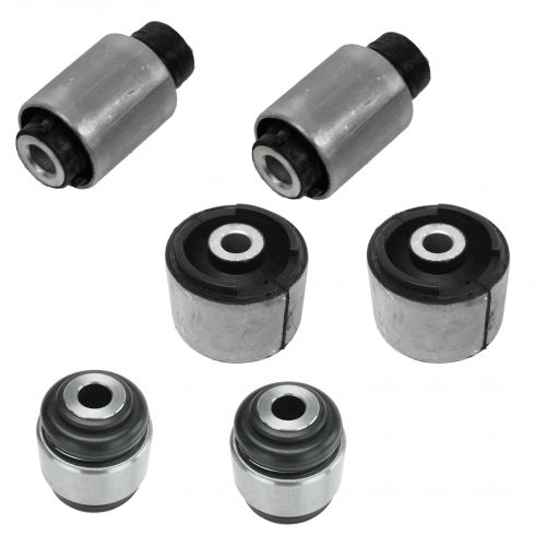 98-08 BMW Multifit Rear Trailing Arm Bushing & Upper Wishbone Inner & Outer Bushing Kit (Set of 6)