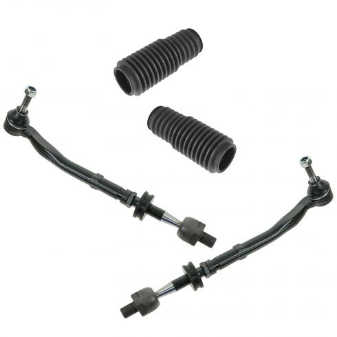 97-03 BMW 5 Series Front Inner/Outer Tie Rod Assy & Steering Rack & Pinion Bellow Kit