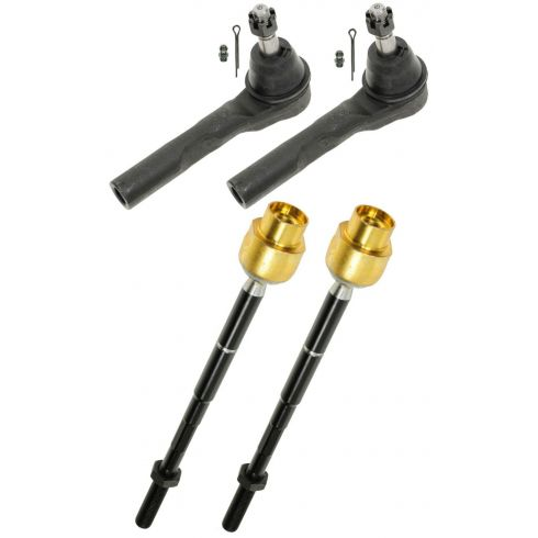 04-12 Malibu; 04-08 Malibu Maxx; 05-10 G6; 07-09 Aura Inner & Outer Tie Rod Kit (Set of 4)