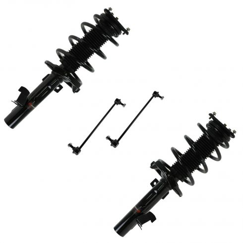 04-09 Mazda 3; 06-10 Mazda 5 Front Strut & Spring Assy & Sway Bar Link Kit (Set of 4)