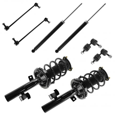 04-09 Mazda 3 (exc Mazdaspeed); 06-10 Mazda 5 Front & Rear Strut, Shock, Sway Bar Link Kit