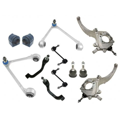 00-02 Jaguar S-Type 12 Piece Front Suspension Kit