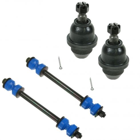 95-00 Chevy GMC 4WD P/U, SUV w/ Steel Arms Lower Ball Joint and Sway Bar Link Kit