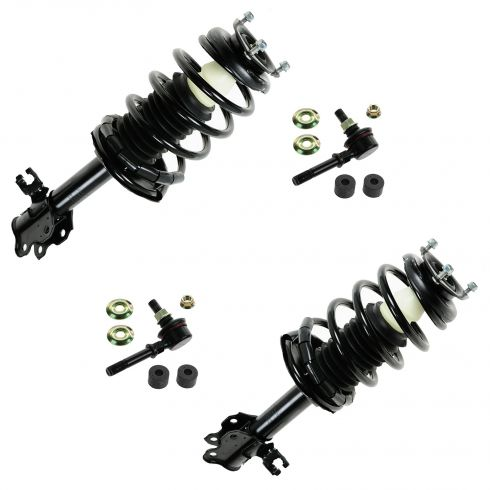 02-06 Nissan Sentra Front Strut Assembly & Sway Bar End Link Kit (Set of 4)