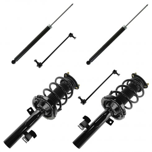 04-09 Mazda 3; 06-10 Mazda 5 Front Strut & Rear Shock Absorber SET w Sway Links