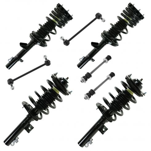 96-07 Ford Taurus Front & Rear Spring & Struts & Links Kit (8 piece)