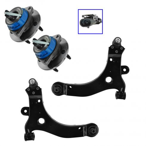 97-01 Venture, Silhouette; 99-01 Montana; 97-98 Trans Sport Front Lower Control Arm & Hub Kit