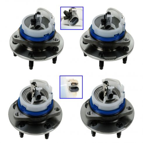03-07 Cadillac CTS; 05-11 STS Front & Rear Wheel Hub & Bearing Assembly Kit (Set of 4)