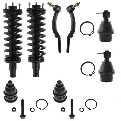 Front Shocks Struts/Springs, Ball Joints, & Tie Rod Set for Chevy GMC Buick Olds Isuzu