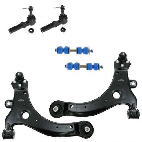 97-11 GM Multifit Front Sway Bar Link Lwr Ctrl Arm & Outer Tie Rod 6pc Kit