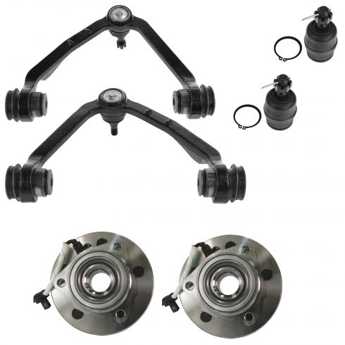 00-04 F150 Upr Control Arm/Lwr Ball Joint & Hub Kit (Set of 6)