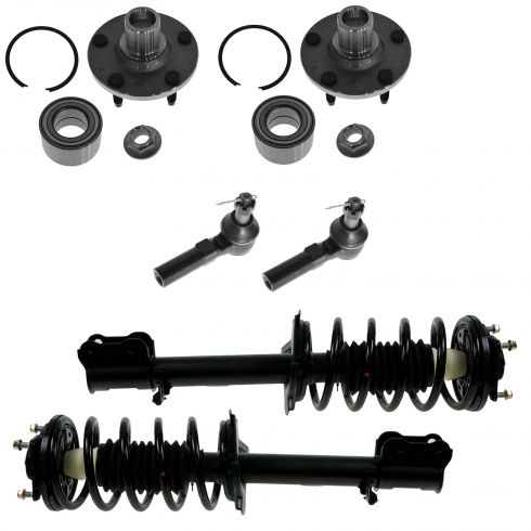01-09 Mazda Tribute, Ford Escape; 05-09 Merc Mariner Strut Spring Hub Bearing Tie Rod Kit (Set of 6)