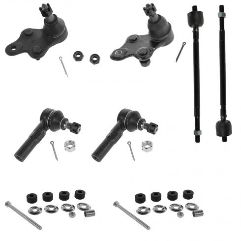91-99 Toyota Tercel; 92-98 Paseo Tie Rod Ball Joint Sway Bar Link Kit (Set of 8)