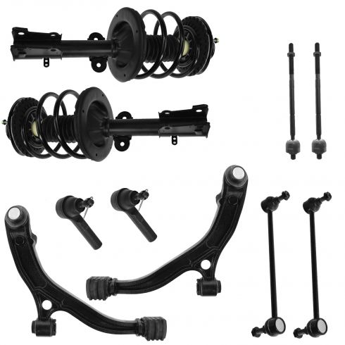 01-04 T&C, Caravan, Grd Caravan; 01-03 Voyager Strut Tie Rod Sway Bar End Ctrl Arm Kit (Set of 10)