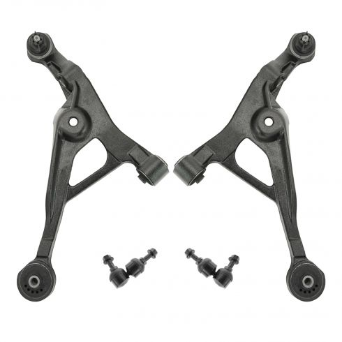 96-06 Plymouth Chrysler Dodge Front Lower Control Arm with Ball Joint & Sway Bar Link Pair