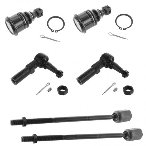 1996-06 Mercury Sable Ford Taurus Inner & Outer Tie Rod, Lower Ball Joint Set