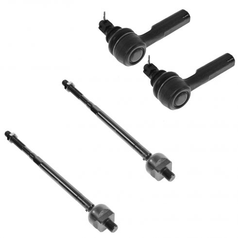 00-01 Infiniti I30; 02-04 I35; 00-02 Nissan Maxima Front Inner & Outer Tie Rod Set of 4
