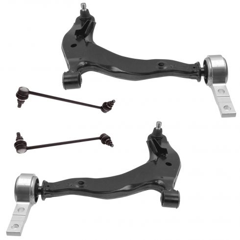03-(to 5/07) Nissan Murano Front Lower Control Arm w/Ball Joint & Sway Bar Link Kit (Set of 4)