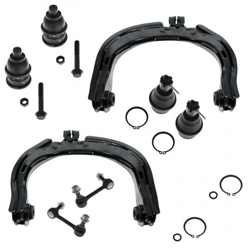 04-07 GMC Chevy Buick; 04-08 Isuzu Ascender; 04 Olds Bravada; 05-09 Saab 9-7X 8 Piece Suspension Kit