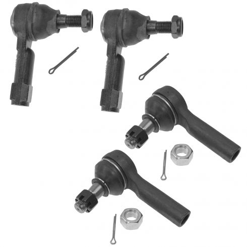 98-04 Frontier; 00-04 Xterra Front Outer & Inner 4 Piece Tie Rod End Kit