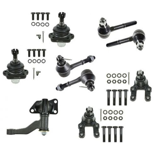 94-97 Nissan D21 PU; 93-95 Pathfinder w/4WD Front Tie Rod End w/Balljoint & Idler Arm Kit (Set of 9)