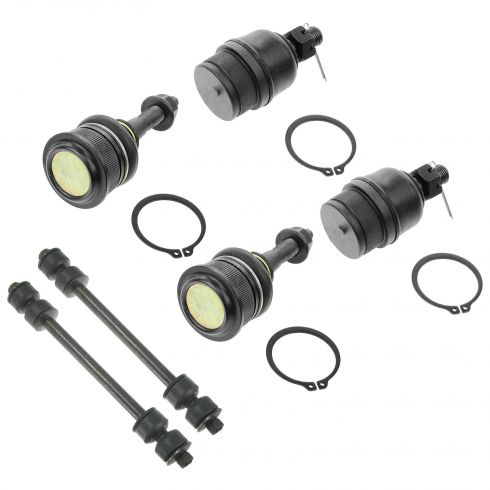 02-05 Explorer, Mountaineer; 03-05 Aviator Frt Upr & Lwr Ball Joint w/Sway Bar Link Kit (Set of 6)