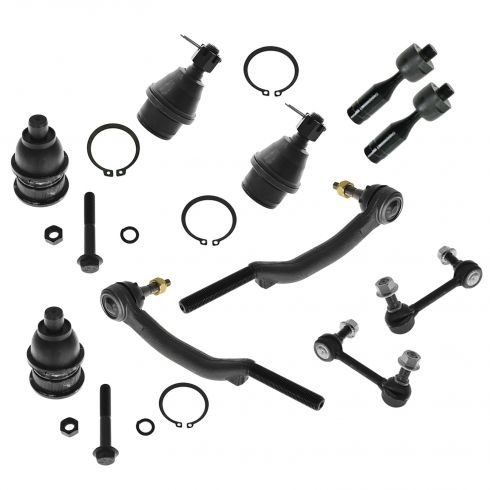 03-09 Buick, Chevy, GMC, Olds, Saab, Isuzu Mid Size SUV Front Steering & Suspension Kit (10 Piece)