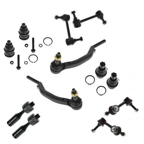 02-03 Chevy, Isuzu, GMC, Olds Mid Size SUV Front & Rear Steering Suspension Kit (12 Piece)