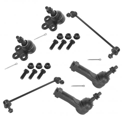 05-09 Chvy Equinox; 06-09 Torrent; 02-07 Vue Sway Bar Link Lower Ball Joint & Outer Tie Rod Kit