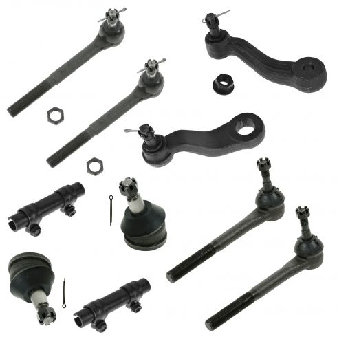 93-00 Chevy GMC Pickup SUV Van 2WD Steering & Suspension Kit (10 Piece)